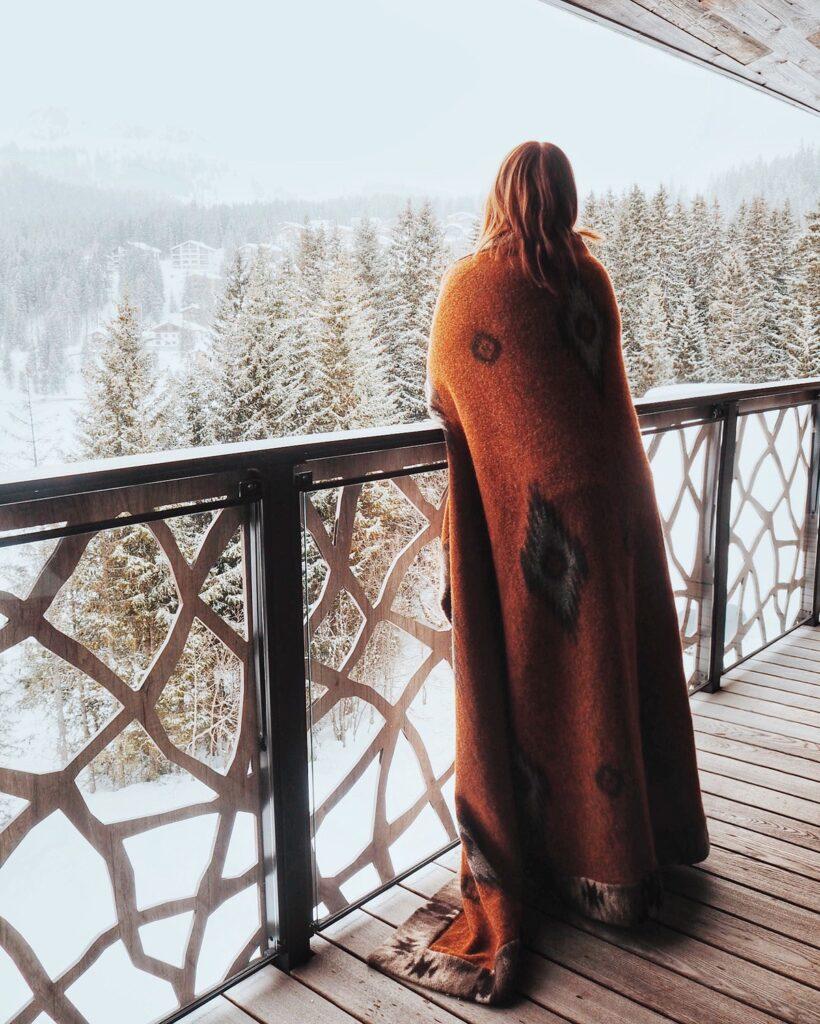 Terrasse Valsana Hotel Berglandschaft