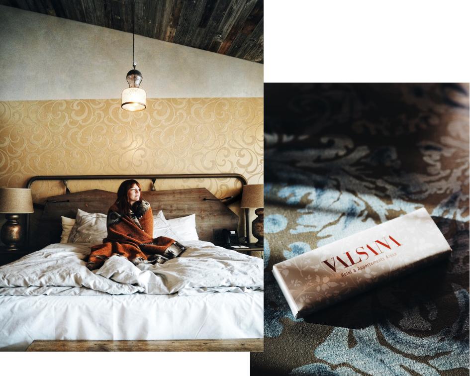 Valsana Berghotel Zimmer boho style